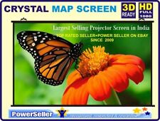 SIZE: - 10Ft. (W) x 6 Ft. (H), MAP TYPE HOME CINEMA PROJECTOR SCREEN