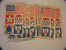 NEW-OLD AMERICAN GREETINGS 165 SELF STICK SEALS STICKERS PATRIOTIC USA SEALS