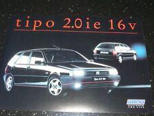 FIAT TIPO 2.0 ie 16v ORIGINAL BROCHURE. OCT 1991. VGC. RARE