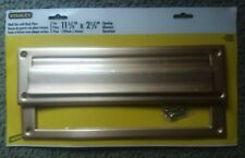 Stanley Gold Mail Slot #80-3905 Aluminum Anodized With Back Plate Hard To Find!