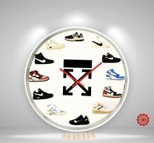 "New 12"" 2D Off White Sneakers clock nike supreme jordan yeezy quartz closed US"