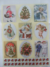 Dufex Victorian Christmas Stickers for card making-scrapbooking-and decoration