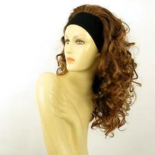 Perruque avec bandeau châtain cuivré méché blond clair ref ODESSA en 6BT27B
