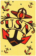 156 US NAVY Anchor Tattoo Sailor Jerry Traditional style Flash poster print