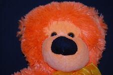 "Orange Floppy Teddy Bear 20"" Fiesta Schlitterbahn Water Park Plush Toy Lovey"