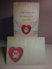 Tree-Free -Pet Sympathy - a Heart with a paw printe in center on the cover