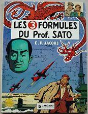 Blake et Mortimer Les 3 Formules du Prof. Sato 1 E P JACOBS éd Dargaud 1977 EO