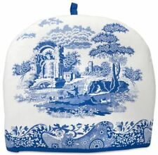 New Blue Italian insulated cotton tea cosy by Pimpernel for Spode