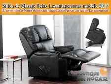 Sillón de Masaje Relax Levantapersonas modelo 2015 Negro
