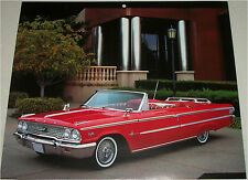 1963 Ford Galaxie 500 XL Sunliner Convertible car print (red, no top)