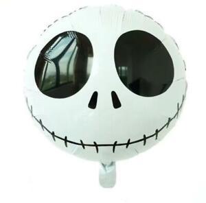 "2 x Jack Nightmare Before Halloween Christmas Skellington Balloon 18"" Decoration"