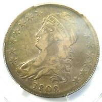 1808 Capped Bust Half Dollar 50C - PCGS XF Detail (EF) - Rare Coin - Nice Luster
