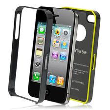 iPhone 4 4S Schutz Aluminium Hülle Case Tasche Bumper Schale Alu schwarz gelb
