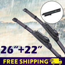 "26""+22"" Car Front Window Frameless Wiper Blades Fit for Ford Explorer Volvo XC90"