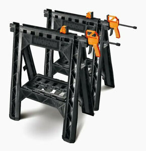 New WORX 27-in W x 32-in H Abs Plastic Saw Horse (1000-lb Capacity) WX065