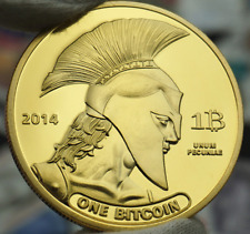 Titan Commemorative Gold Coin Plated BTC Bitcoin Collectible Collection Physical