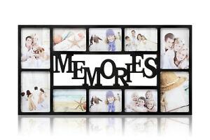 Black Large Memories Photo Frame 10 Multi Aperture  Frame Ideal gift -CL-9876