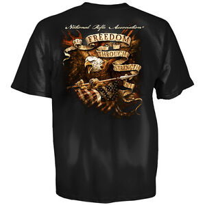 NRA T-Shirt Eagle Freedom Strength New Authentic National Rifle Association S-3X