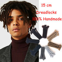 "6"" Synthetic Dreadlock For Men Crochet Braid Jamaica Reggae Punk Hair Extensions"