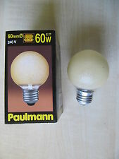 rarité Paulmann Mini - Lampe globe E27 60W G60 CRISTAL DE GLACE ambre jaune