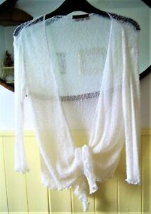 Bali Girl Crochet white Shrug