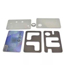 New Credit Card Design & Wallet Fit Magnetic Metal Smoking pipe UK Seller