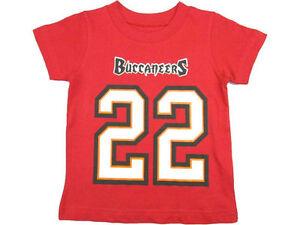 DOUG MARTIN #22 TAMPA BAY BUCCANEERS NFL TEAM APPAREL YOUTH SHIRT M-L-XL