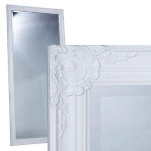 Toller Spiegel Wandspiegel ca 80 x 180 cm weiß Antik-Stil Barock Facettenschliff