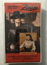Zorro Volume 3 VHS NEW! Walt Disney Clam Shell and the Mystery Of Don Cabrillo