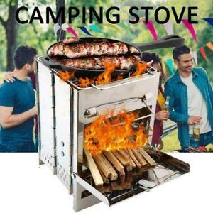 Faltbare Wood Stove Holz-Vergaser Ofen Kocher Camping Outdoor Survival Notkocher