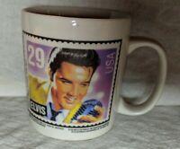 Vintage Elvis Presley 1992 Postage Stamp Design Mug White