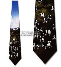 Cow Tie Pasture Neckties Mens Farm Animal Neck Ties NWT