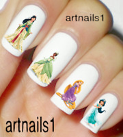 Disney Princess Nail Art Water Decals Stickers Manicure Salon Polish Mani Gift