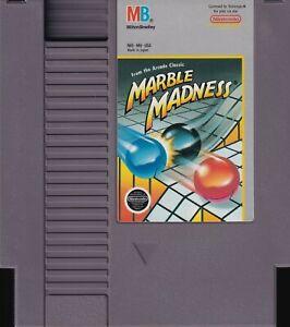 MARBLE MADNESS (1989) nes nintendo entertainment system mb us NTSC USA IMPORT