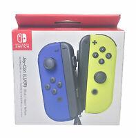 NEW Nintendo Switch Joy Con Wireless Controller Blue & Neon Yellow - Official