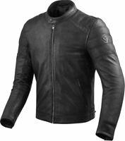 Rev'it Stewart Jacket Black Leather Motorcycle Jacket New