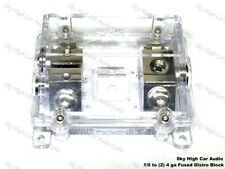 (1) 1/0 To (2) 4 Ga Waterproof Anl Fused Distribution Block Dual Anl Fuse Holder