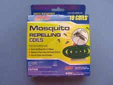 PIC Mosquito Coils Bug Repellant Burns 5-7 Hours Package of 10  #C-10-12 NEW