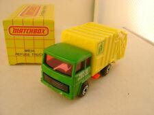 1991 MATCHBOX SUPERFAST #36 REFUSE DISPOSAL TRUCK GREEN CAB NEW IN BOX