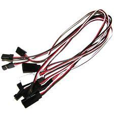 10 X 500mm Servo Cable macho a hembra Cable de Extensión Plomo JR Futaba 50cm