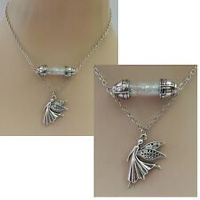 Silver Fairy Glass Vial Pendant Necklace Jewelry Handmade NEW Fashion Chain