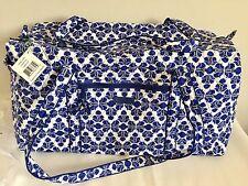 NWT Vera Bradley Large Duffel Cobalt Blue Tile $85