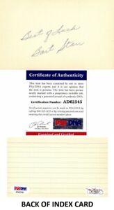 Bart Starr Signed Autographed 3x5 Index Card - Packers JSA Sticker + PSA/DNA COA