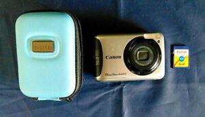Canon Powershot A490 Digital Camera Quantaray Digital Carry Case 2 Gb SD Card