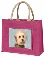 Dandie Dinmont Dog Large Pink Shopping Bag Christmas Present Idea, AD-DD1BLP