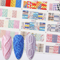 Nail Water Decals Sweater Elements Transfer Stickers Nail Art Wraps Decoration
