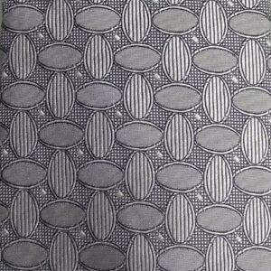 Silver Gray Foulard Silk Tie