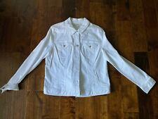 Women's Style & Co White Denim Jean Jacket Size Large