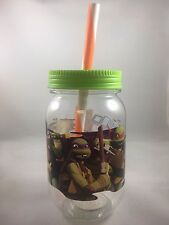 TMNT Mason Jar Tumbler Teenage Mutant Ninja Turtles Boys 19 oz BPA FREE