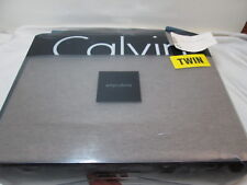New Calvin Klein Modern Cotton Body Twin Duvet Cover ~ Fawn NIP